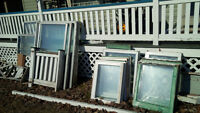 Many windows for sale. Great for tree house, cottage or camp