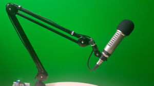 4 Electro voice RE27N/D Microphones and Rode Mic arm together