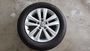 "VW OEM Wheels and Tires (16"", 205/55/R16)"