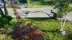 Bball net, bent base, available FREE- at curb