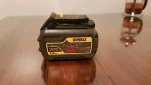 DEWALT BATTERY FLEX VOLT 20V 60V MAX 6.0AH 75$