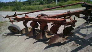 Oliver white 4 furrow plow
