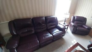 Burgandy Couch and Lazy Boy Set - $ 200 OBO