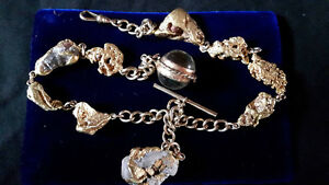 Gold Nugget Pocket Watch Chain