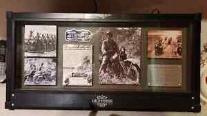 "Harley ""1942 WLA"" Military Archive framed display"