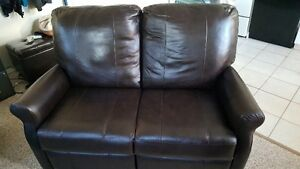 Electric Leather Loveseat Recliner
