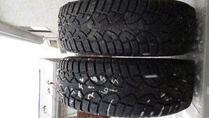 Two General 215/65R15 tires