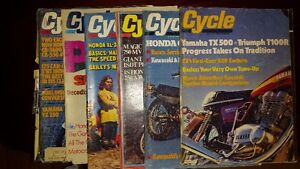 set of 12 CYCLE MAGAZINES FROM  1974 rare  and more years