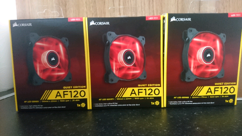 Corsair af120 quiet edition red led pc case fans | in Chapeltown, West  Yorkshire | Gumtree