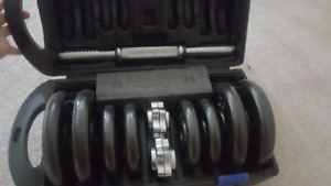 Like-new never used weight set