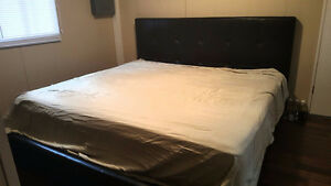 King Size Leather Bed Frame w/ Mattress