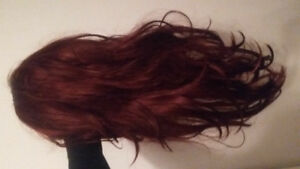"""Beautiful 28"""" burgundy/deep red lace front wig"""