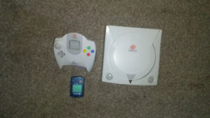 Sega Dreamcast with one controller