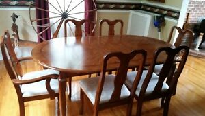 Dining Table ,Chairs and China Cabinet Hutch