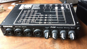 Shure P4M and Roland JV-1010 synth module