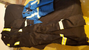 Large fire resistant coveralls. New