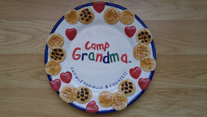 Large Cookie plate for grandkids cookies