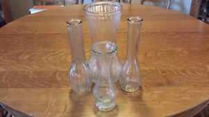 Lovely Clear Vases For Sale!