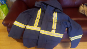 Tough Duck insulated fire resistant winter jacket w/ hood