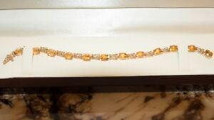 Citron and Diamond Ladies Bracelet