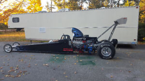 Drag car and trailer combo