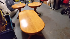 Oak coffee and end tables for sale