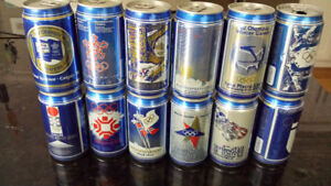 RARE Vintage 1988 Calgary Olympics Beer Cans
