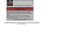 A. G. Concrete Forming