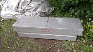 Truck tool box delta and tailgate for trailer
