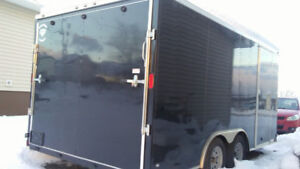 ENCLOSED TRAILER FOR RENT.