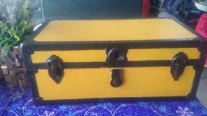 Vintage painted trunk