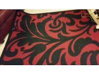 Large Black & Red Rug