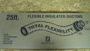 """25ft flexible insulated ducting 5"""" R4.2"""