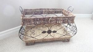 wicker/metal basket