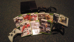 Xbox 360 10 games and 3 controllers for sale