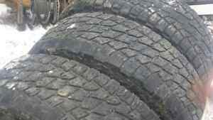 3 A/T Terra Nitto Grappler tires plus one LT265/70R17 to make a
