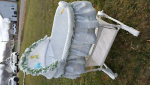 Baby Bassinet with storage compartment