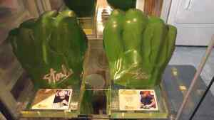 Hulk Fists from signed by Stan Lee & Lou Ferrigno.