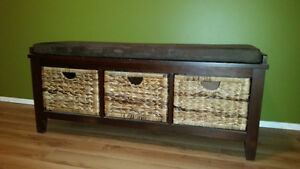 Wicker Entrance Bench