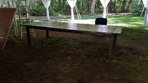 Large rustic dining table perfect for a head table or in a home! London Ontario image 2