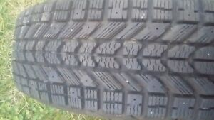 185/65/15 × 2 winterforce tires just as new,