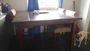 Marble Style Pub Table