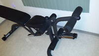 Body solid flat incline decline bench with leg attachment