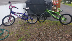 2 youth bicycles