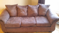 Chocolate Brown Microfiber Couch