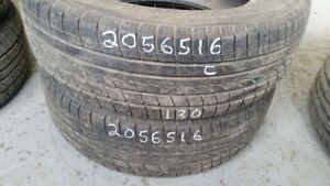 Pair of 2 Yokohama Avid TRZ 205/65R16 tires (60% tread life)