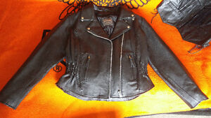 Leather m.o.b jacket and vest sweet deal
