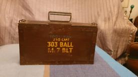 Vintage Army Ammo Box