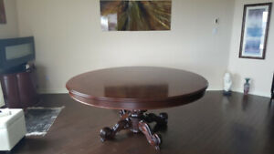 Round Hand Painted Cherry Wood Dining Table Italy Only Table