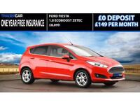 Ford Fiesta 1.0 EcoBoost 2014.5 Zetec - FREE INSURANCE!!